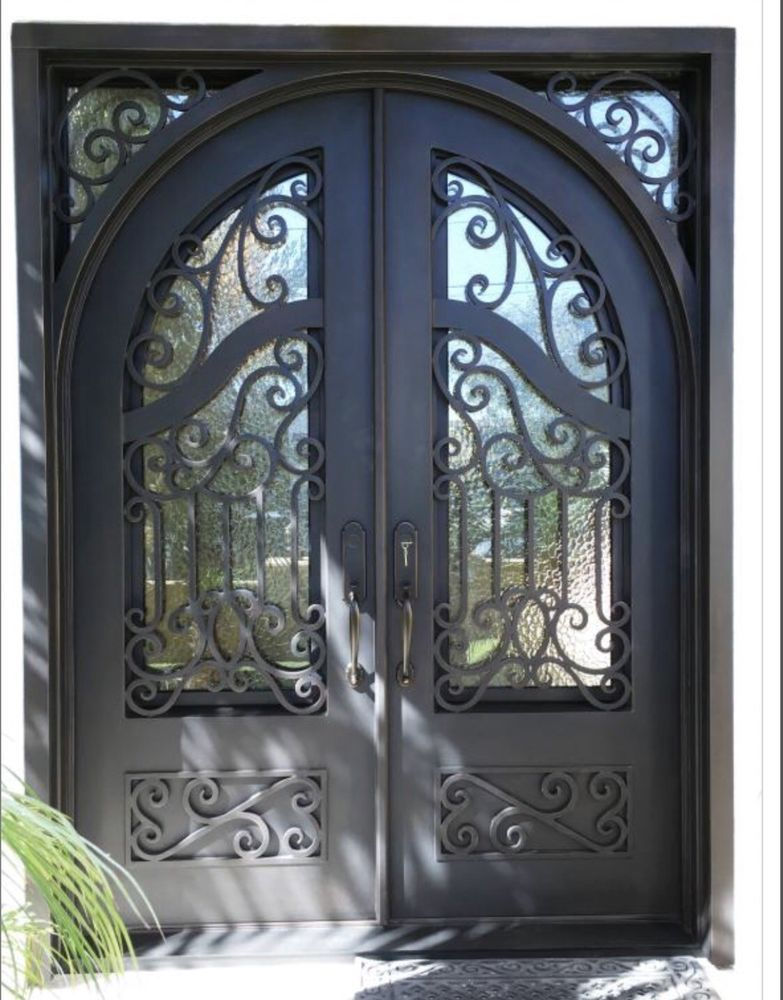 All Of Our Designs Are Available In Double Or Single Sizes With Full Round Top Eyebrow Arch Top Wrought Iron Doors Iron Entry Doors Wrought Iron Entry Doors