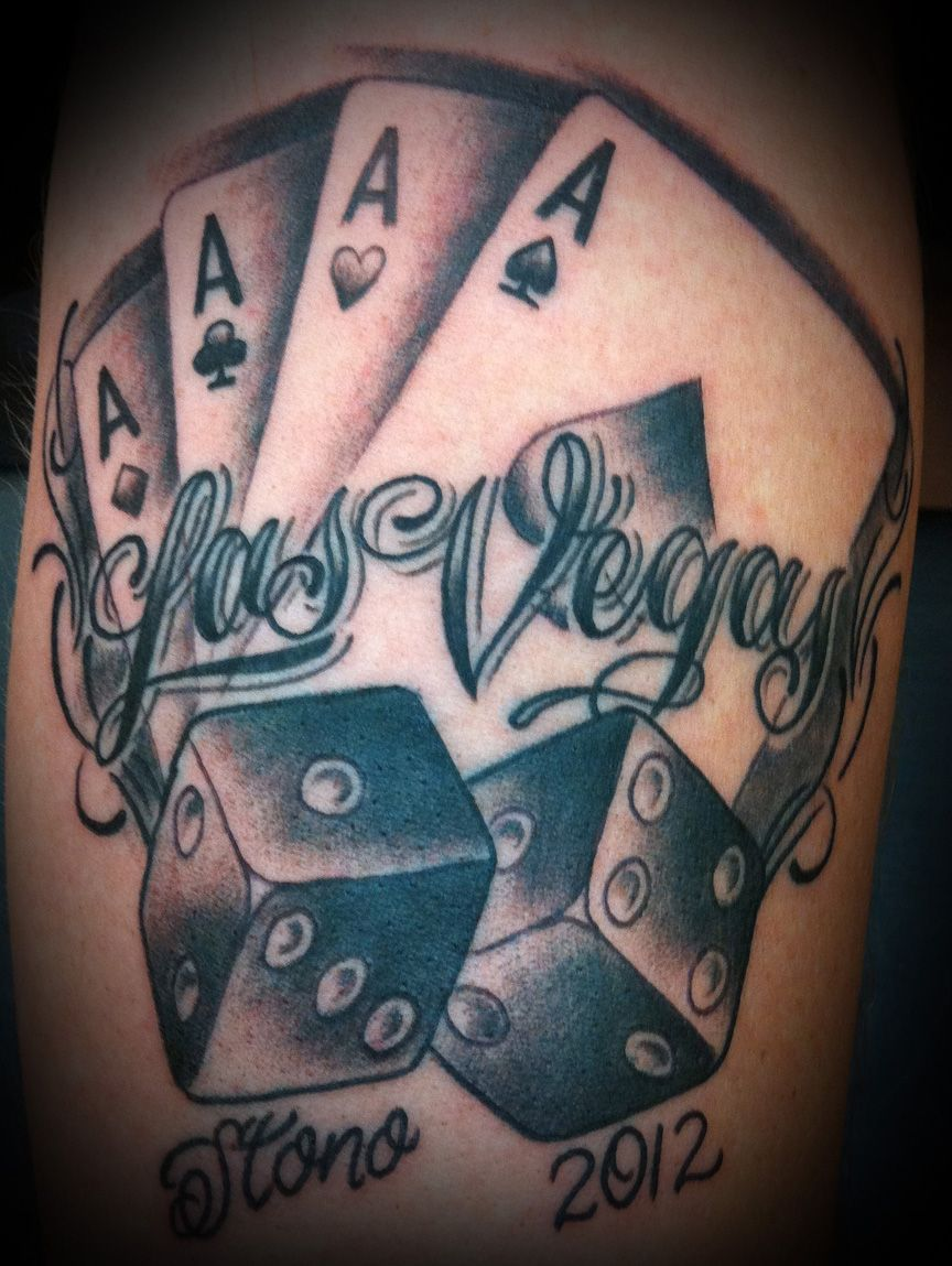 Las Vegas Tattoo Vegas Tattoo Dice Tattoo Poker Tattoo