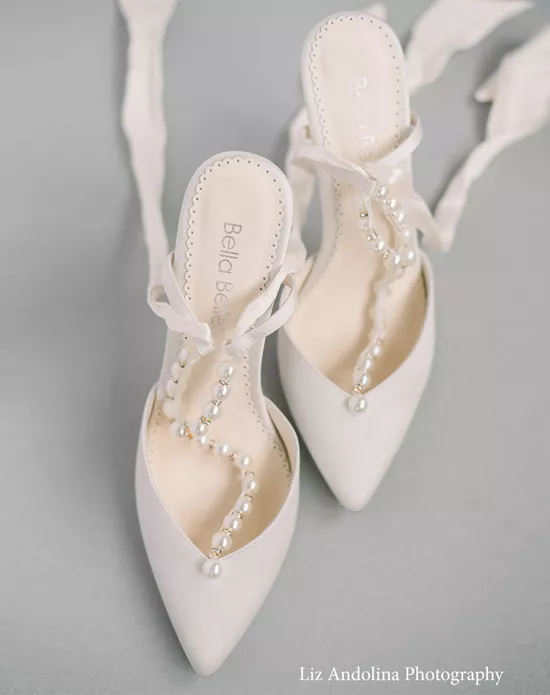 Lucia In 2021 Pearl Wedding Shoes Embellished Wedding Shoes Wedding Shoes