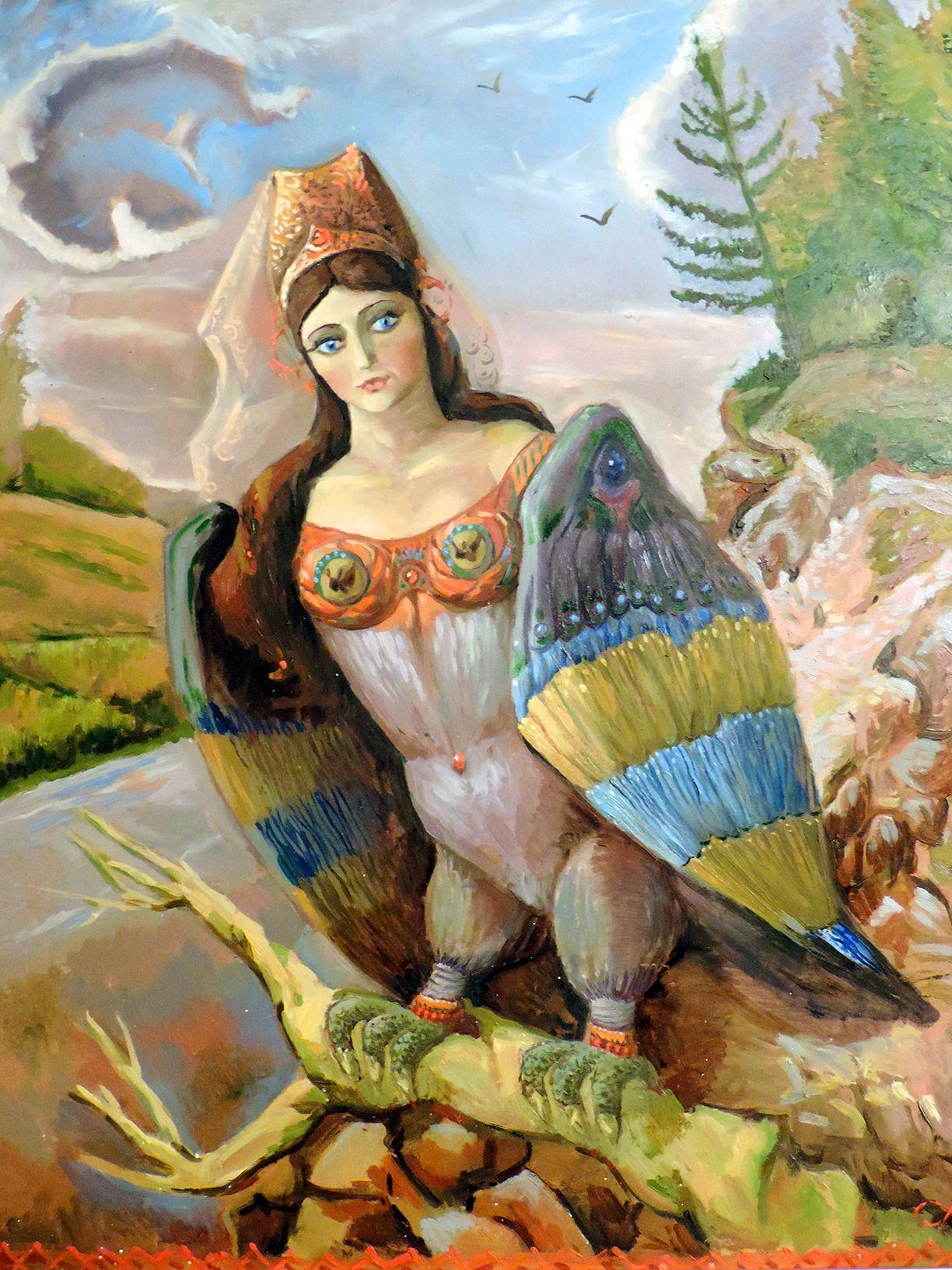 птица в славянской мифологии сирин картинка для получения