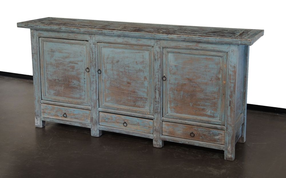 Vintage light blue sideboard cabinet media console MB044 - Vintage Light Blue Sideboard Cabinet Media Console MB044 All About