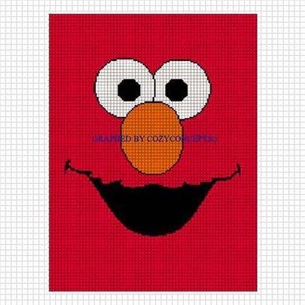 Pattern Graph Elmo Crochet Pattern Graph Afghan Fuzzy Face Graph