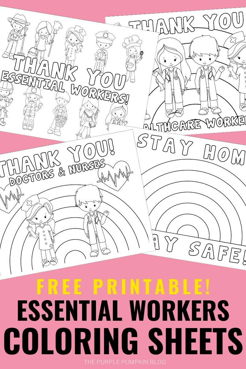 Free Printable Thank You Coloring Pages Free Printable Key Workers Essential Workers Coloring Coloring Sheets Coloring Pages For Boys Printable Coloring Pages