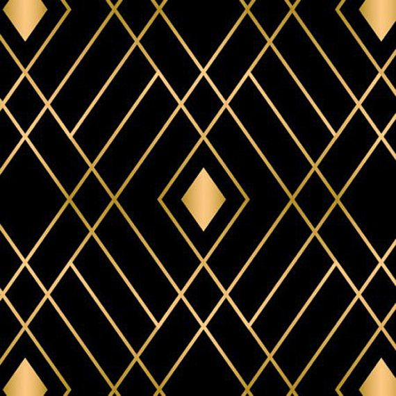 Black and Gold Fabric - Diamond Fabric - Black Fabric - Gold Fabric ...