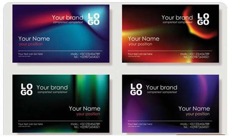 Bright business card template free vectors pinterest card bright business card template pronofoot35fo Images