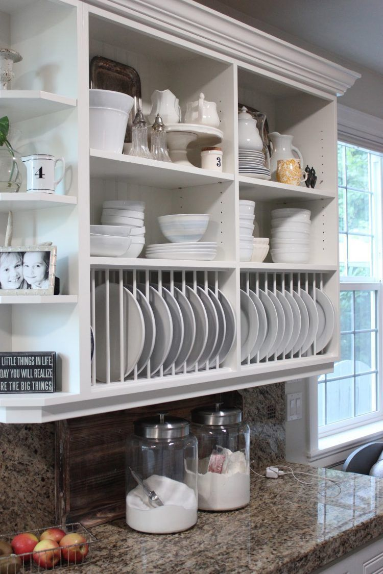 Open Kitchen Cabinets Is Also A Great Alternative To Standard With Regard To Plate Rack Cabinet 15 Be Open Kitchen Cabinets Open Kitchen Shelves Kitchen Design
