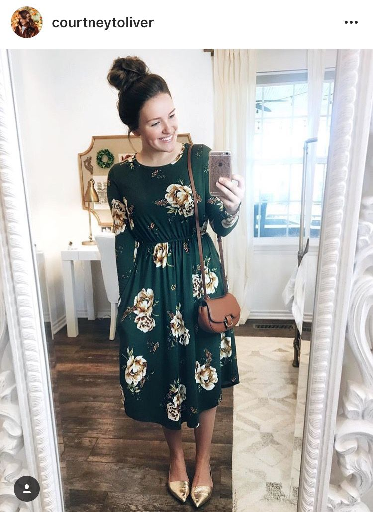 Really a cute dress, complete with the style and pattern!