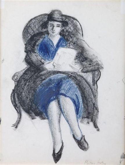 Milton Avery, Seated Woman