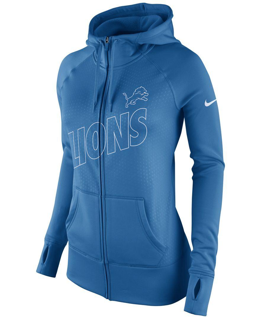 Nike Detroit Lions NFL Tailgater Women's Full-Zip Hoodie