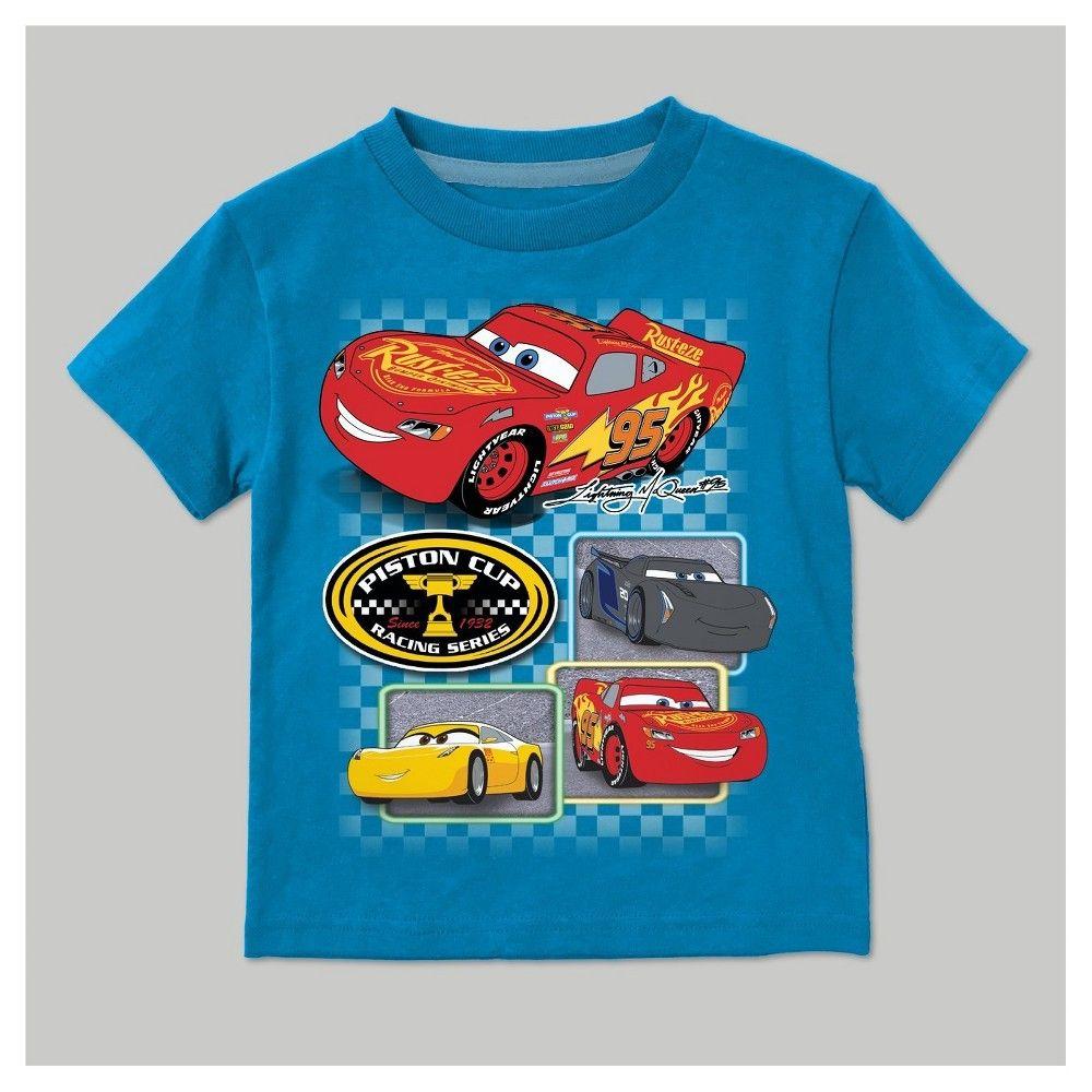 Toddler Boys' Disney Cars Short Sleeve T-Shirt - Turquoise 3T, Toddler Boy's, Blue