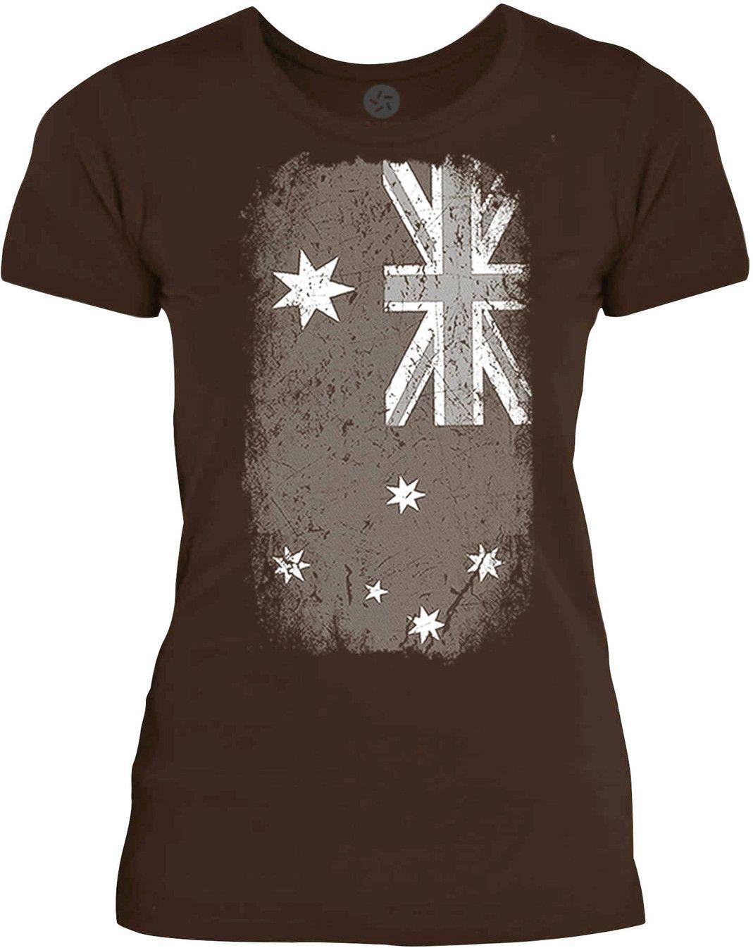 Texas Australian Flag White Womens Fine Jersey T Shirt