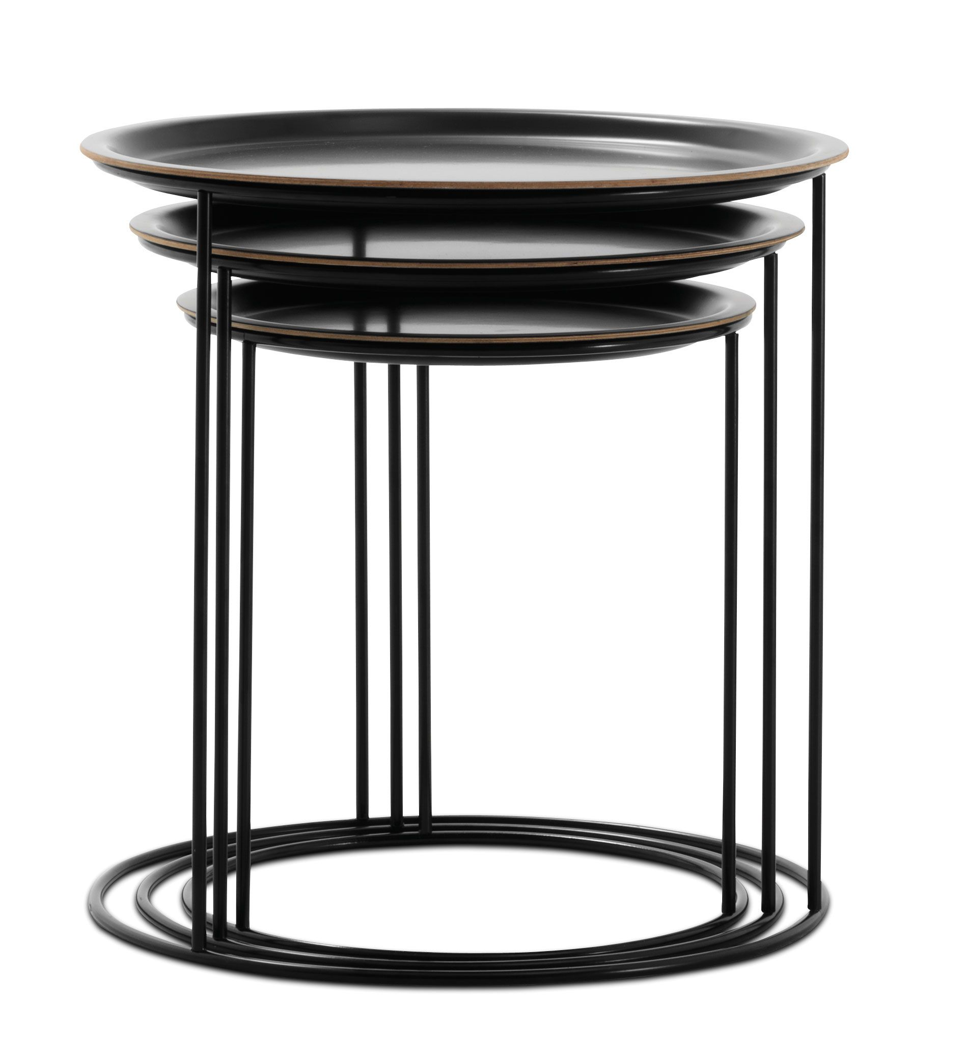 Functional Nest Of Tables Whose Tops Can Come Off And Be Used As Trays Side Table Contemporary Coffee Table Coffee Table Design
