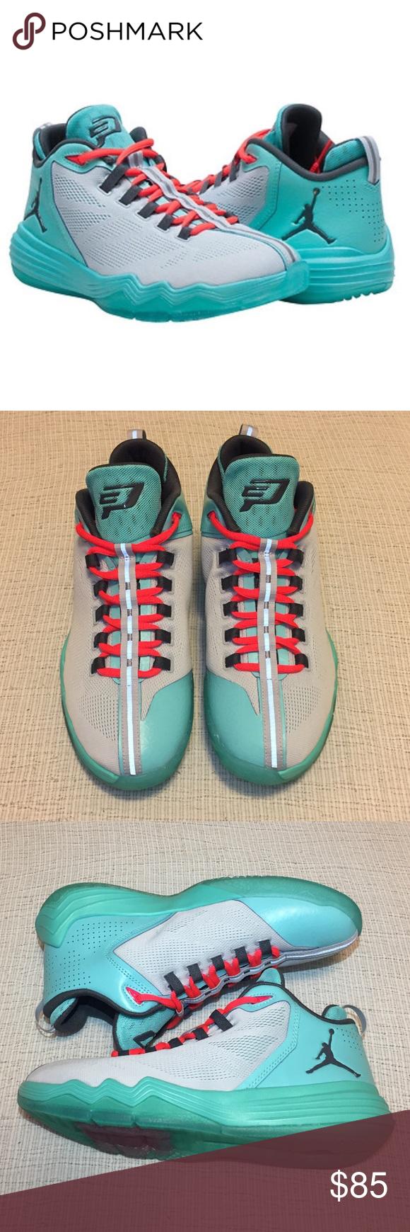 size 40 29332 7bc0d NWOB Boy s - Nike Jordan CP3.IX AE Sneakers New without box. Chris Paul (CP3)  Jordan, basketball shoes. Color  Pure Platinum Dark Gray - Hyper Turquoise  ...