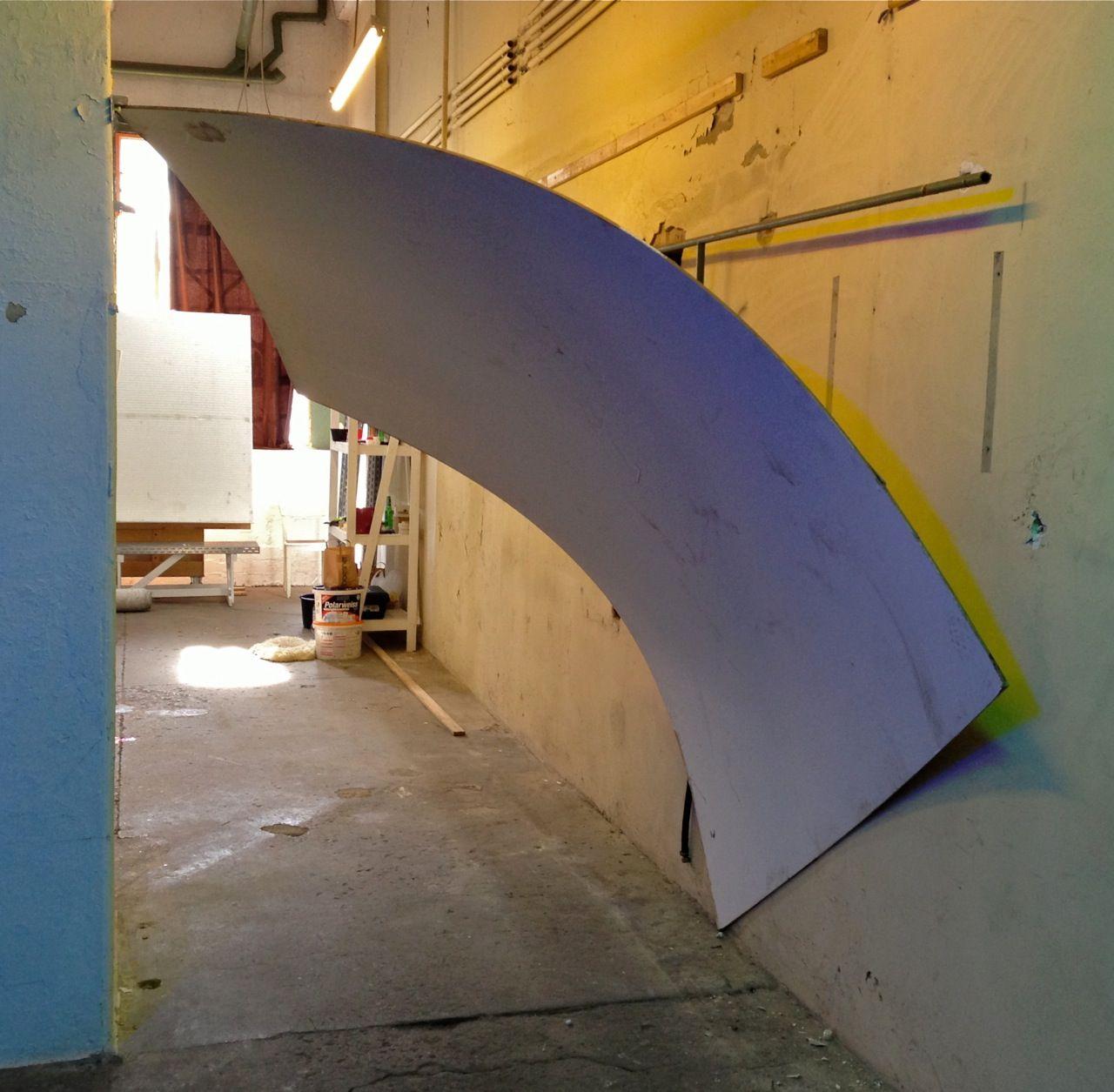 Installation von Magnus Hengge für Richard Serra und Alexander Calder