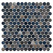 porcelain mosaic blue penny tile
