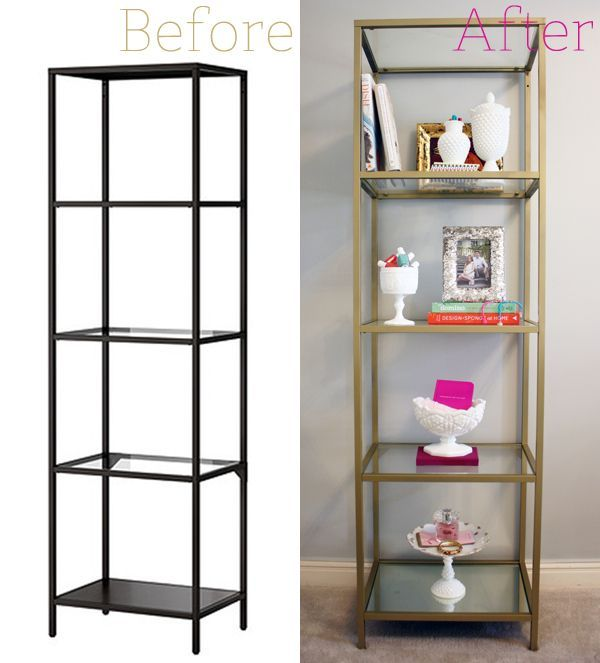 Perfect Ikea Vittsjo Shelving Unit   Spray Painted Gold 3 Cans Rust Oleum Metallic  Spray Paint In U201cPure Gold. Part 8