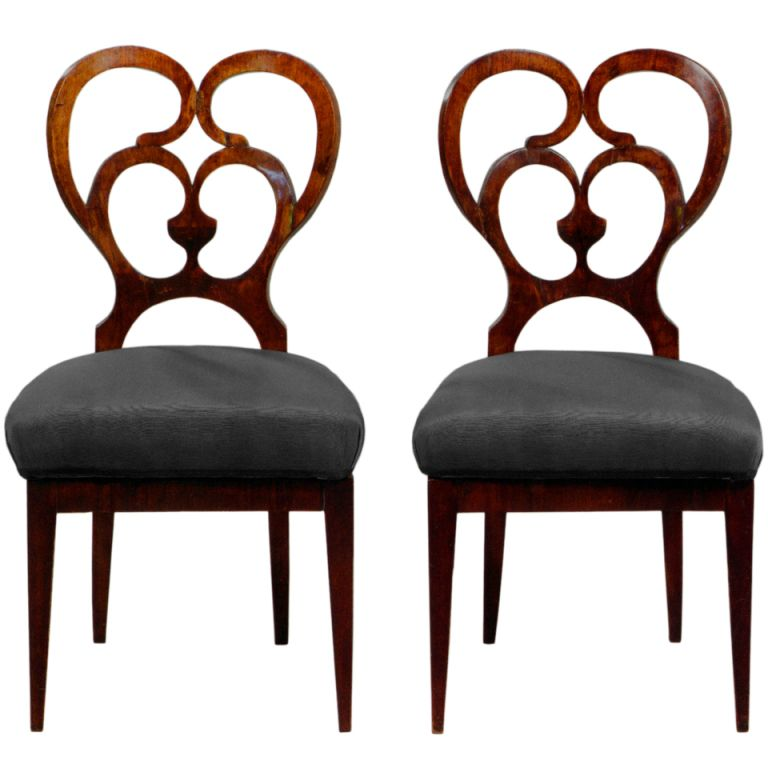 1stdibs   Looped Walnut Biedermeier Chairs Explore Items From 1,700 Global  Dealers At 1stdibs.com