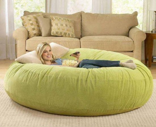 Giant Floor Pillows For Lounging Around Giant bean bags Bean
