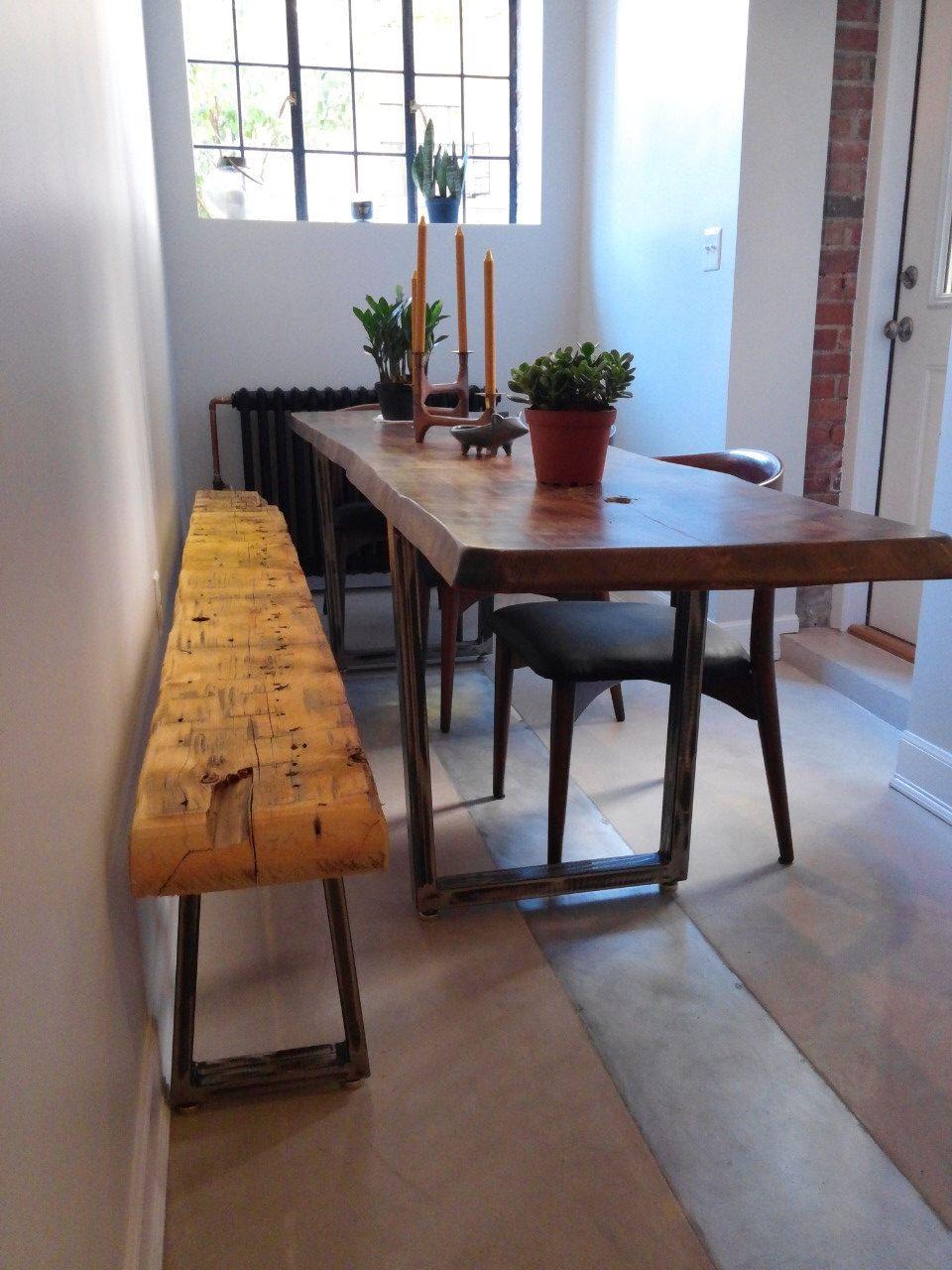 Tapered Steel table legs, metal table legs, bench legs