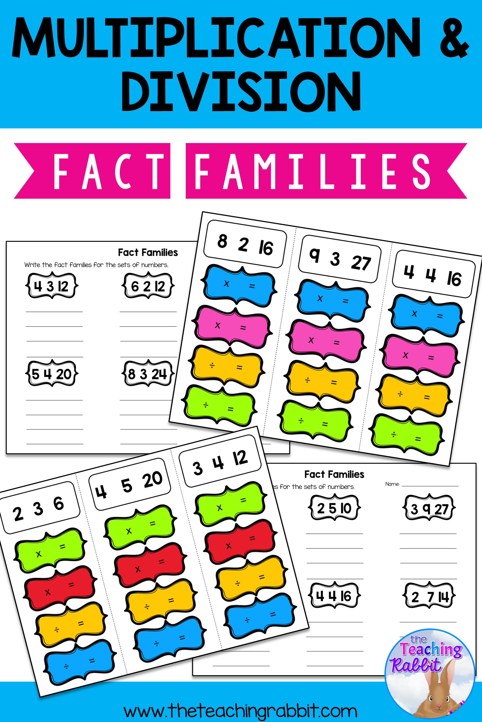 Fact Families Multiplication Amp Division