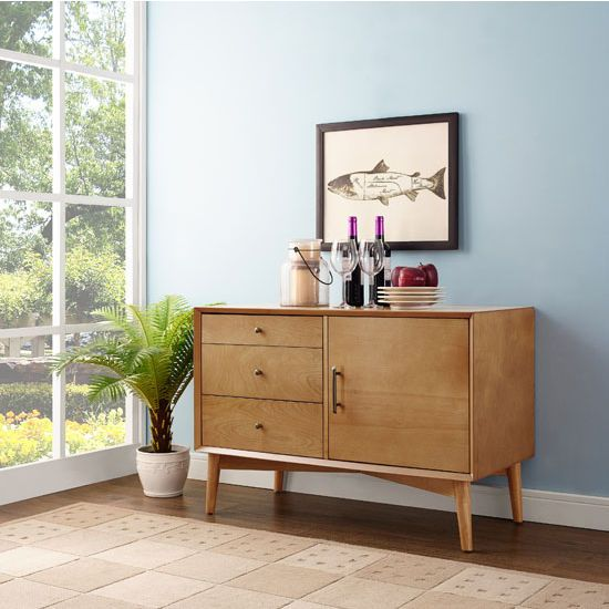 Able To Serve As An Innovative Media Cabinet Or As A Sleek Side Buffet The Crosley Furniture Landon Media Console F Furniture Crosley Furniture Home Furniture