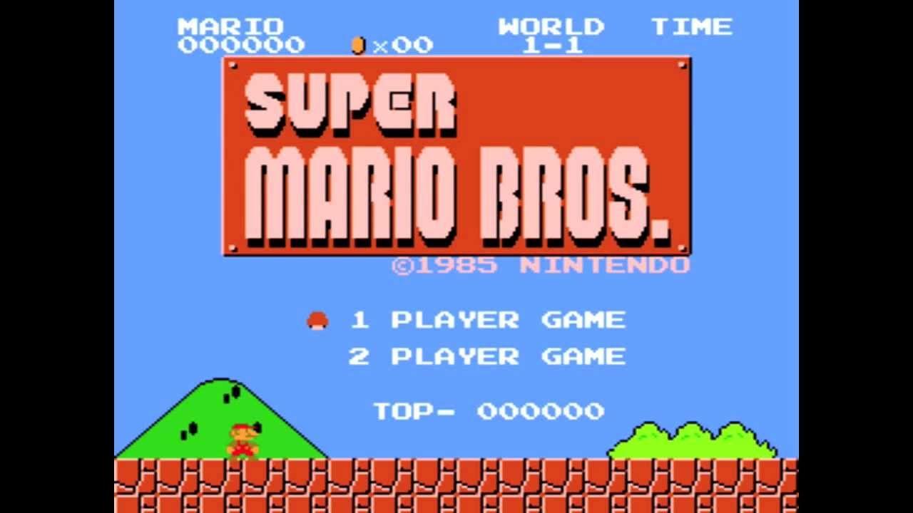 Super Mario Bros Title Screen Mario Bros Super Mario Bros Super Mario
