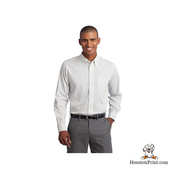 Port Authority Tall Tattersall Easy Care Shirt Tls642 Learn More At