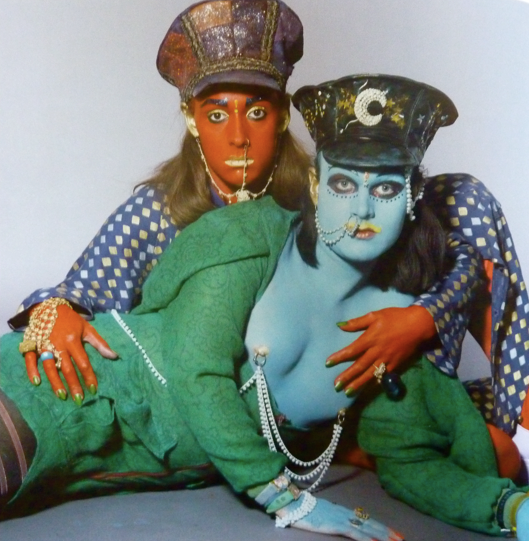 Leigh Bowery and Trojan as 'Pakis from Outer Space'...