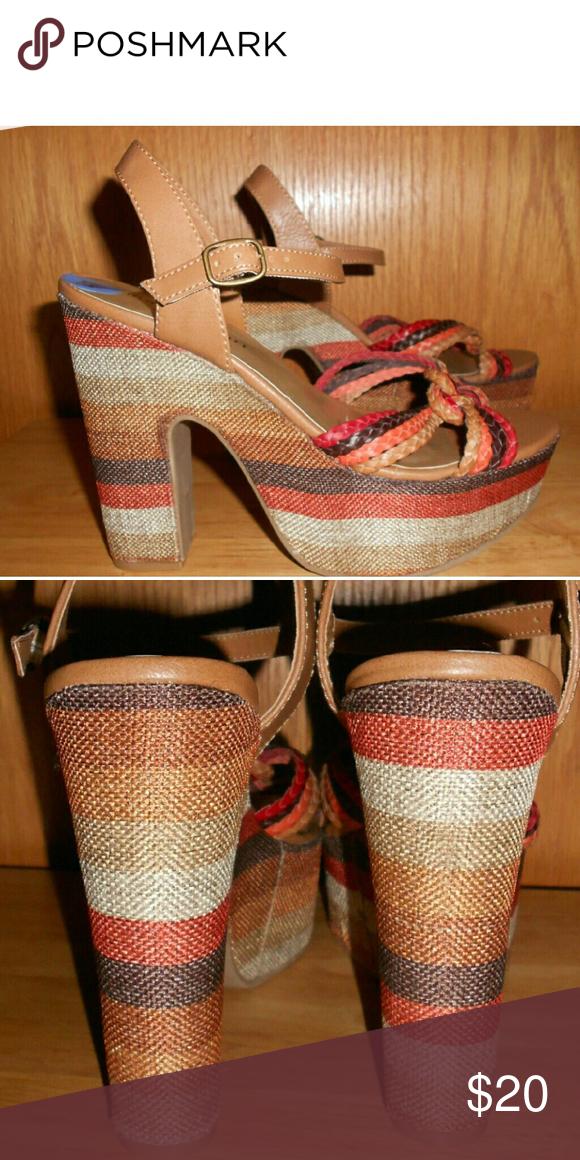 91af8e5a473337 Madden Girl Rolliee Striped Sandal Bohemian platform sandals