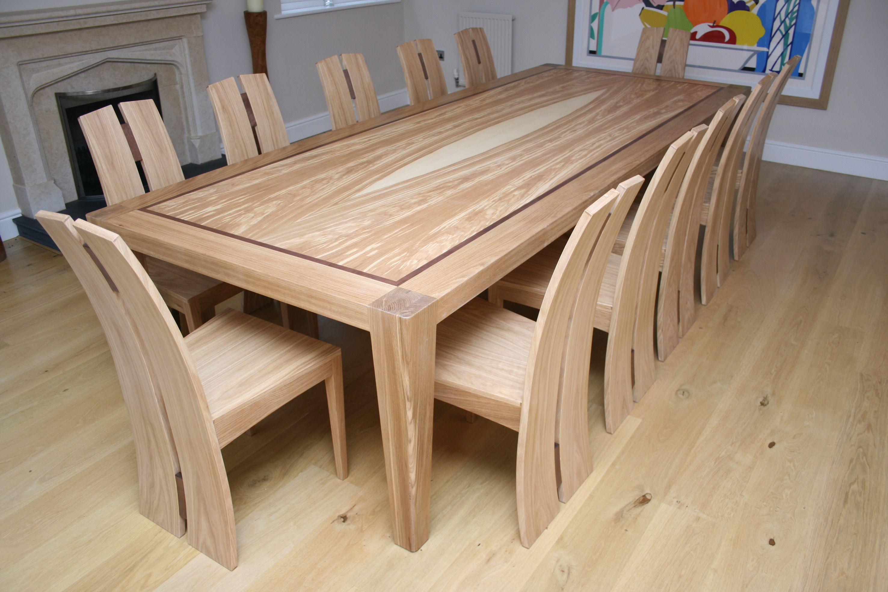 Breathtaking dining room table 12 seater Wooden dining