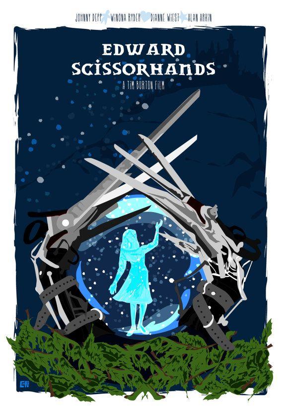 Edward Scissorhands 1990 Inspired Original Movie Poster