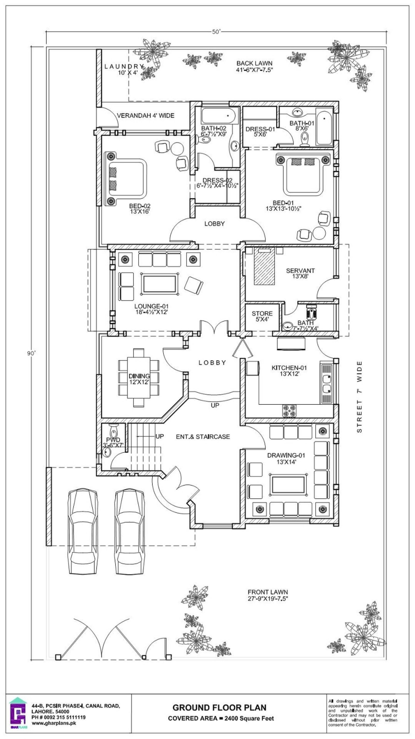 500 Square Yard House Ground Floor Plan 50 X 90 Ground Floor Plan Floor Plans House Plans Mansion