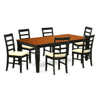 Wooden Importers Logan 7 Piece Dining Set Dining Room Sets