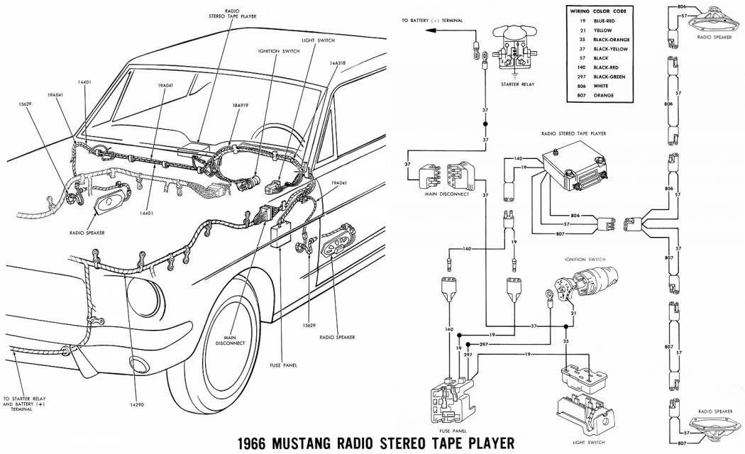 12 Mustang Wiring Diagram Vintage Mustang Mustang Diagram