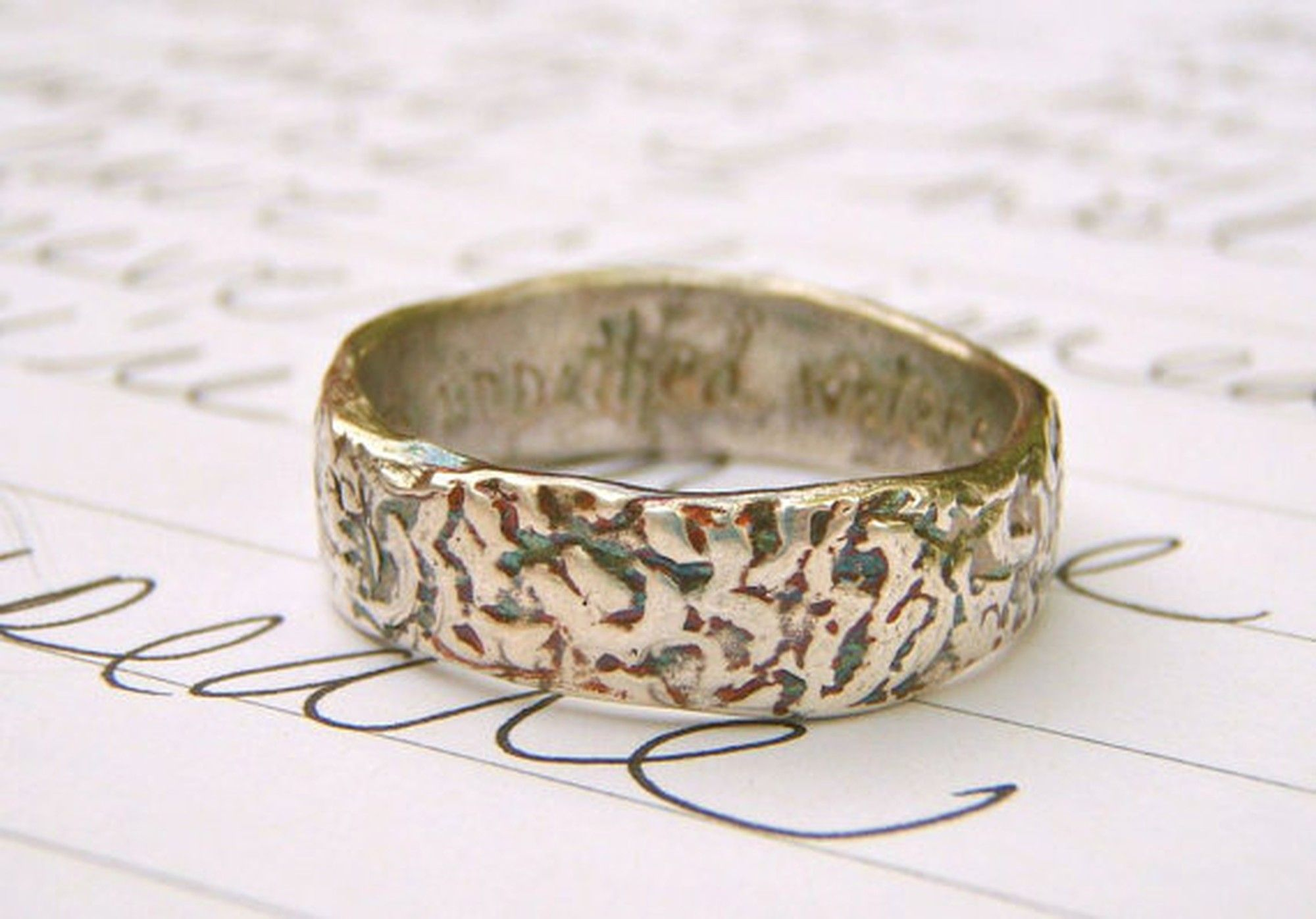 Wedding Bands for MenShakespeare Quote Wedding Ring