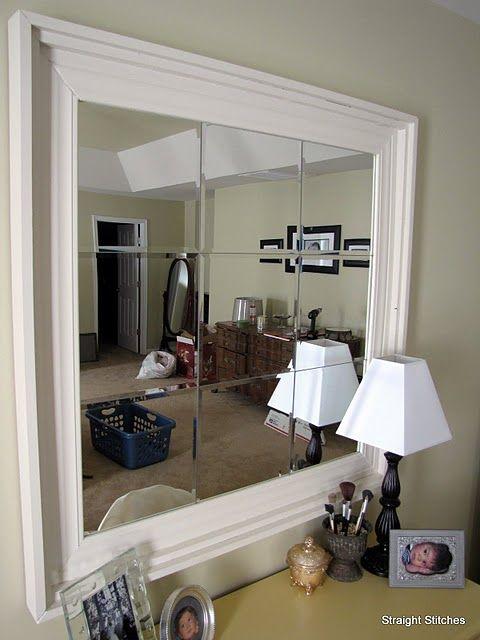 Crown Molding Around Bathroom Mirrors Pottery Barn Diy