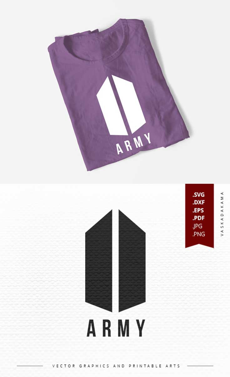 ARMY logo svg download k-pop Bangtan svg for print Army
