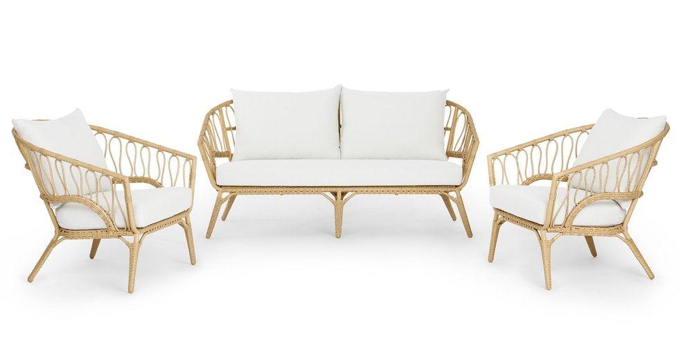 Lucara Sofa Set In 2020 Contemporary Outdoor Furniture Modern Outdoor Sofas Modern Outdoor Lounge Chair