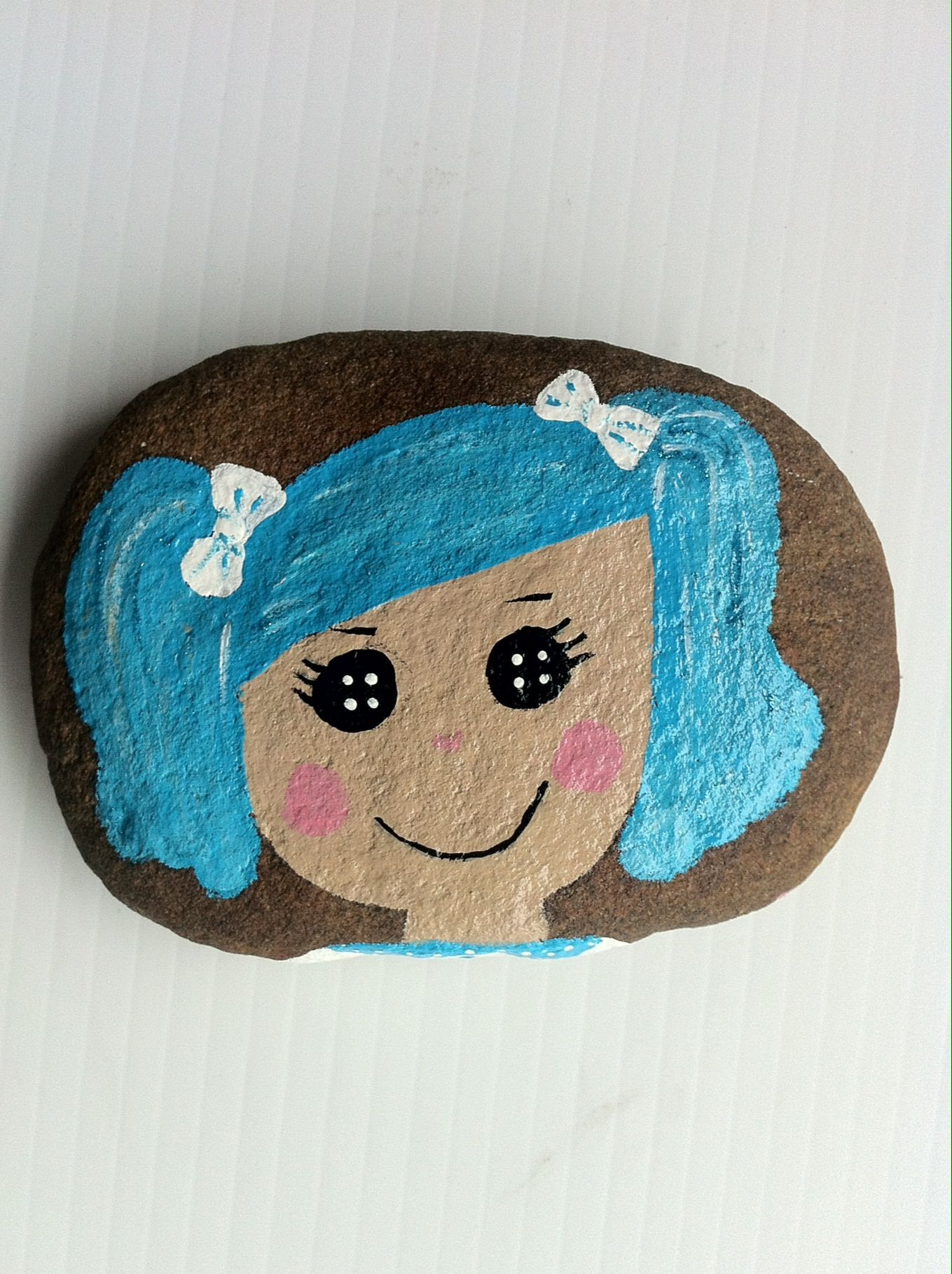 Lalaloopsy  (mittens) painted rock