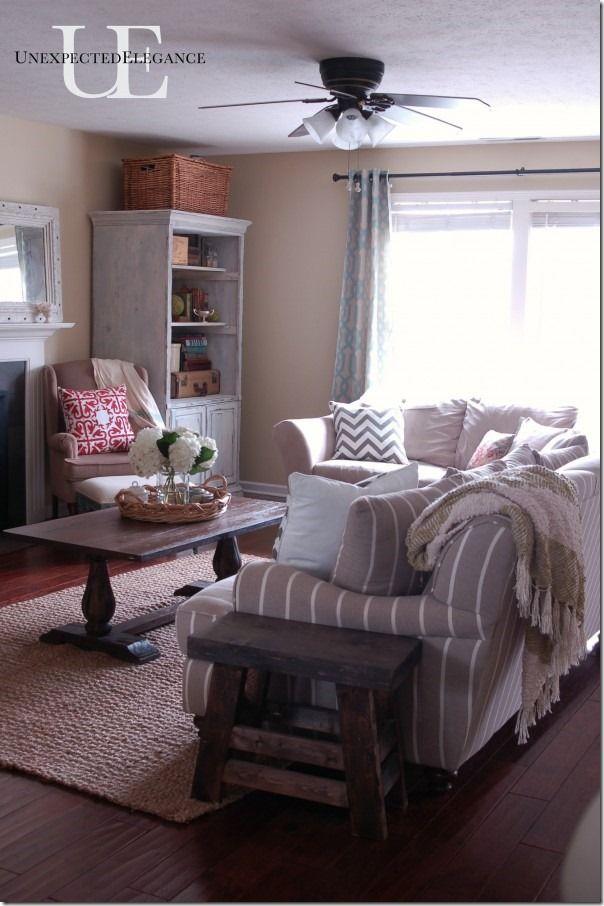 Bright Rustic Elegant Living Room