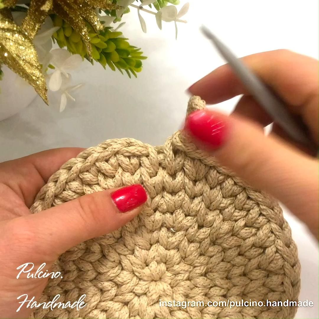 4 EUR! Crochet Round Basket Pattern!