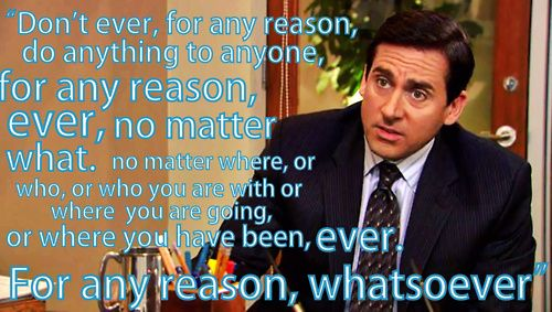 Michael Scott Quotes About Sentences