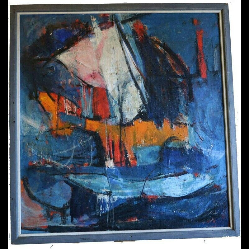 American, 20th century contemporary art A hand painted