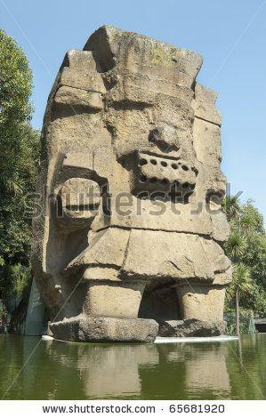 Tlaloc Statue (Aztec God of Rain) Colossal stone made Tlaloc