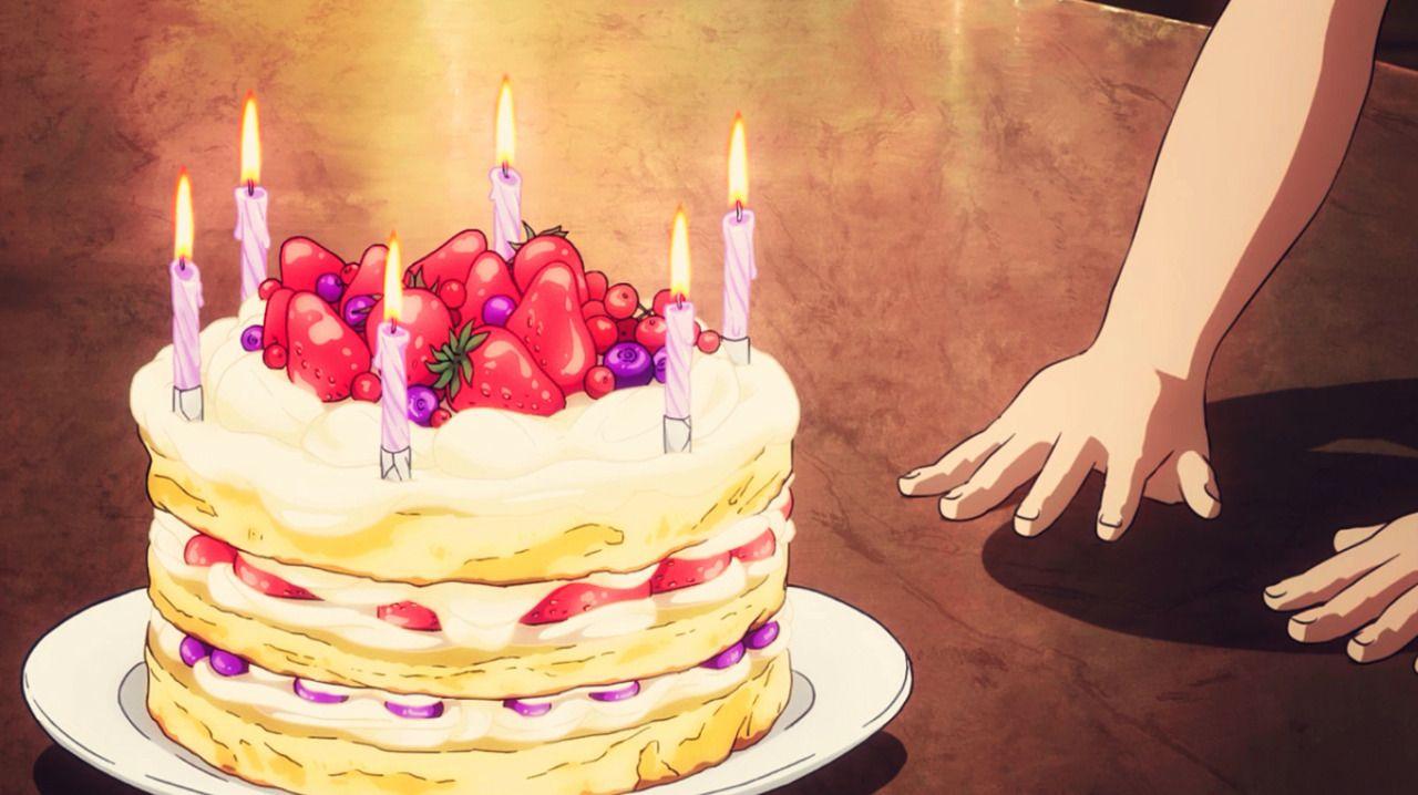 "fuckyeahanimefood ""Azuma and Kaoruko's birthday cake"