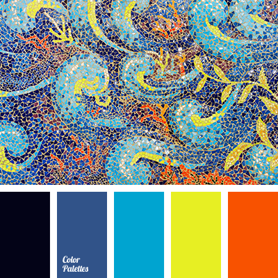 Azure Color Blue Bright Orange Yellow Cold And Warm Shades Of Sicilian Contrast