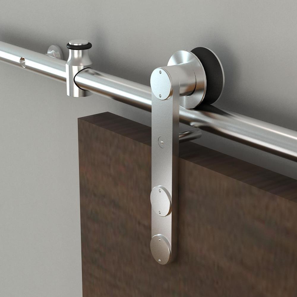 Barn door hardware rlp v track rectangular hanger reclaimed lumber - Everbilt Stainless Steel Decorative Sliding Door Hardware