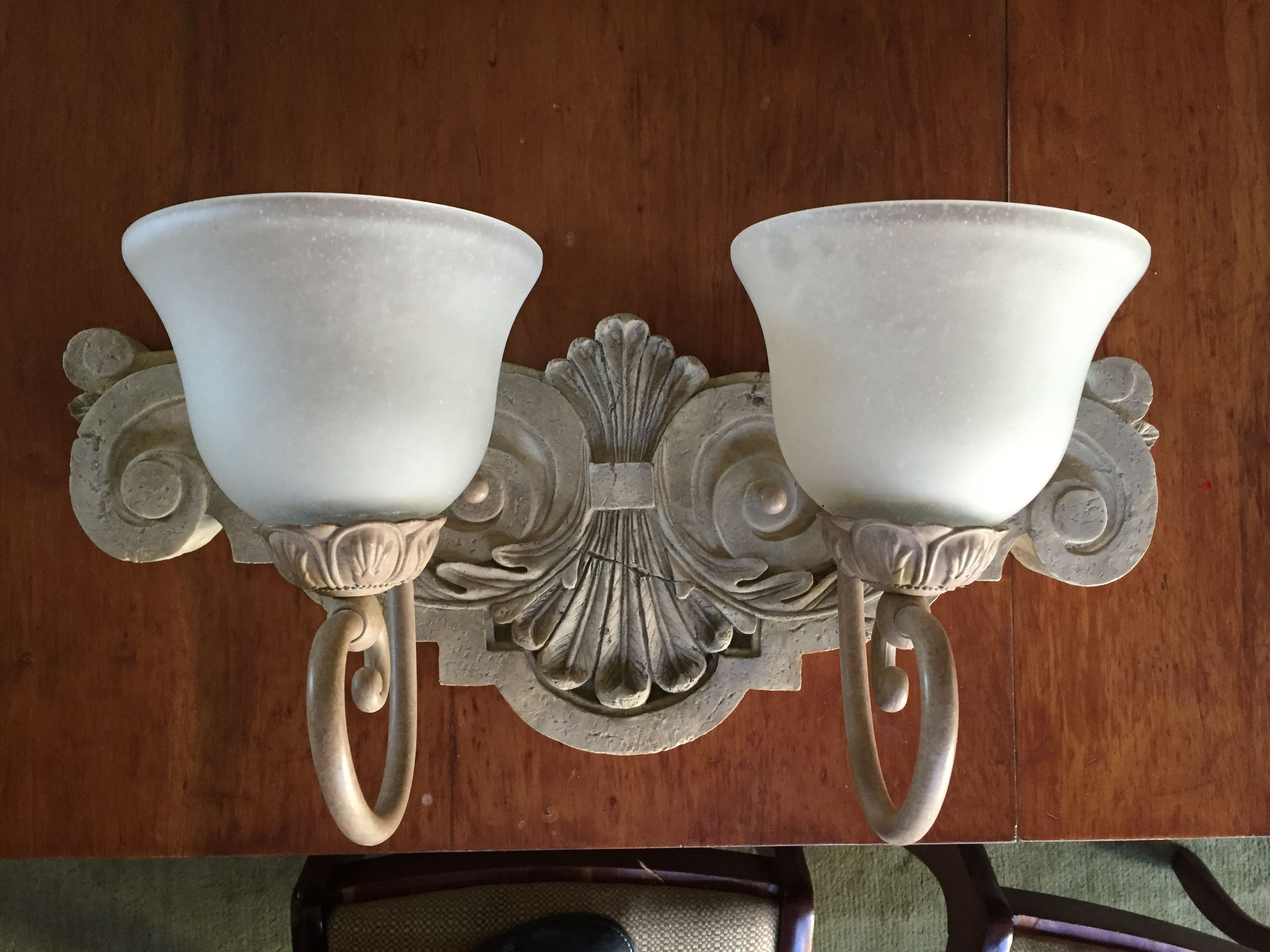 $30 Wall mount light fixture  Heavy, great condition