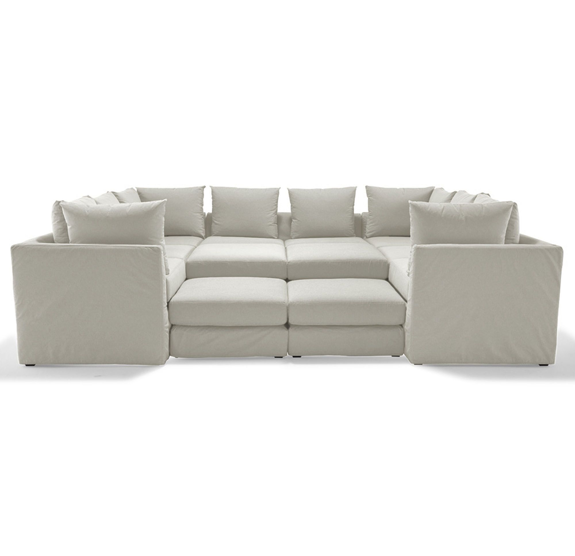 Remarkable Dr Pitt 7 Pc Sectional Chambray Natural Hi Res Bralicious Painted Fabric Chair Ideas Braliciousco