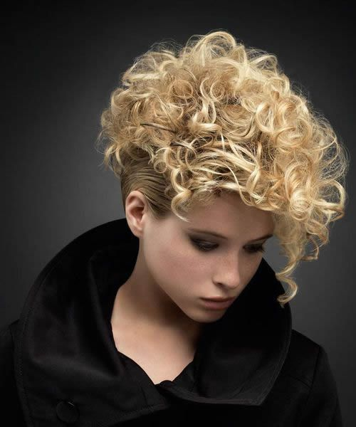 Curly Punk Hairstyles Women Short Curly Hair Haircuts For
